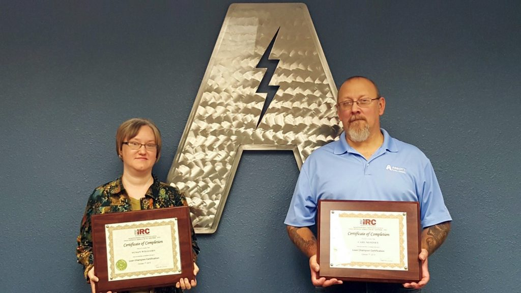 Susan Williams and Carl Mohney, Lean Champions at Abbott Furnace